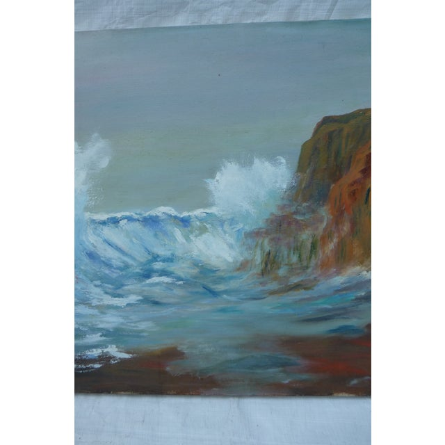 MCM Painting of Rocky Shore by H.L. Musgrave - Image 3 of 6
