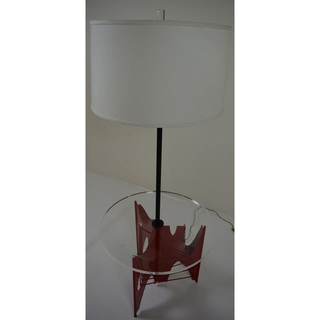 Harry Balmer Brutalist Floor Lamp With Table - Image 6 of 10