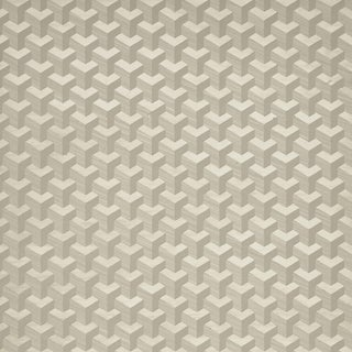 Sample - Schumacher Angolo Wallpaper in Birch For Sale
