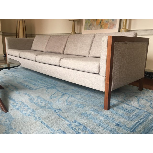 Danish Modern Mid-Century Modern Four Seat Long Sofa by Dux For Sale - Image 3 of 13