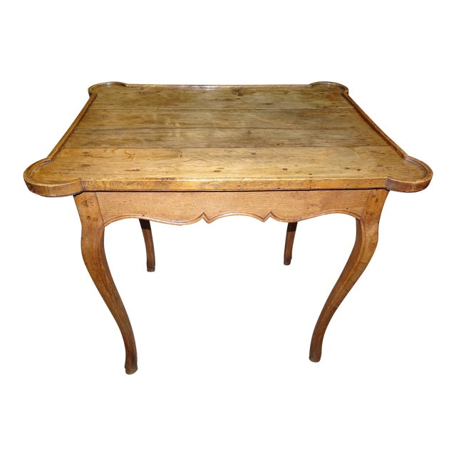 Mid 19th Century French Oak Side Table For Sale