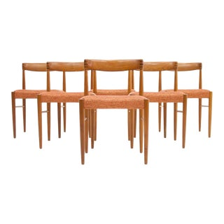 Set of Six Danish Teak Dining Chairs by H. W. Klein for Bramin 1960s For Sale