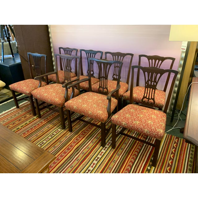 Chippendale Vintage Chippendale Dining Chairs, Set of Eight For Sale - Image 3 of 12