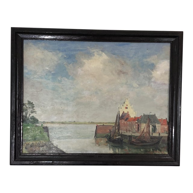 Nautical European Oil Painting For Sale