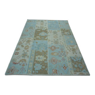 Turkish Anatolian Modern & Decorative Oushak Rug - 6′5″ × 9′5″