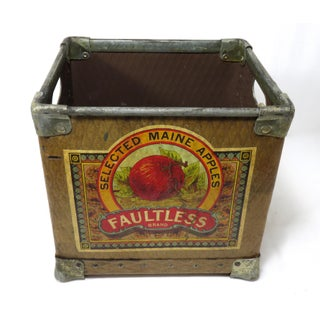 Vintage Maine Farm Grocers Apple Crate Circa 1930s Preview