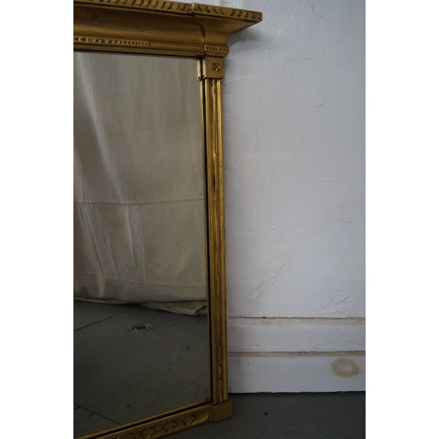 Antique Gilt Wood Impressionist Wall Mirror For Sale - Image 10 of 10