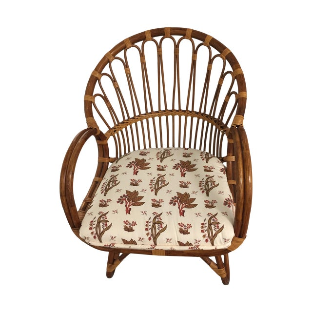 Albini/Boesen Style Sculpted Rattan Chair - Image 1 of 6