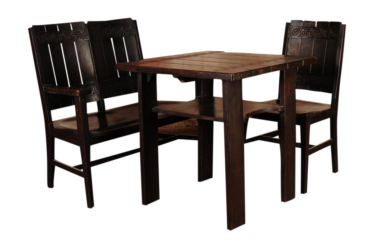 1910s Arts U0026 Crafts Oak Breakfast Dining Set For Sale
