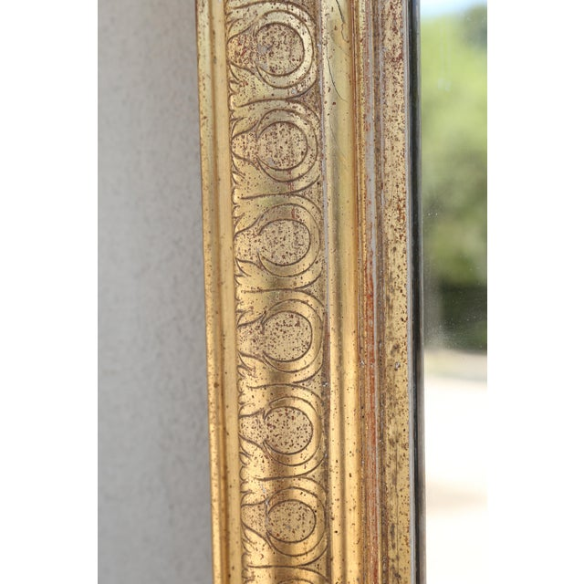 Louis Philippe 19th Century French Louis Philippe Carved Gilt Mirror With Original Glass For Sale - Image 4 of 12