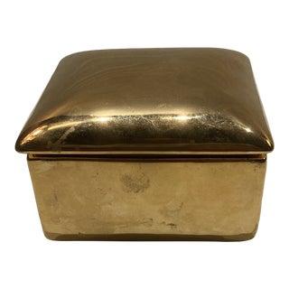 Robert Bryan Home Gold Porcelain Box For Sale