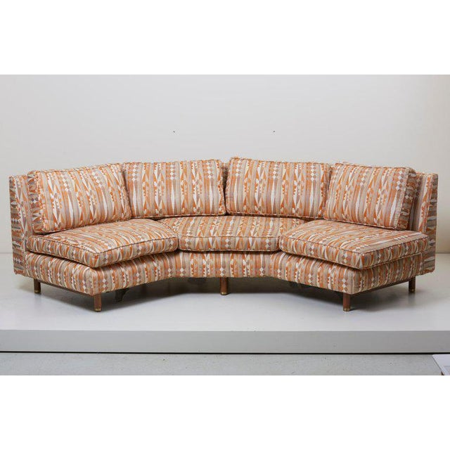 Brass Huge Sectional Sofa by Edward Wormley for Dunbar (Upholstery Needed) For Sale - Image 7 of 13