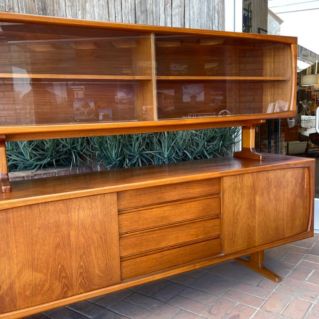1970s 1970s Danish Modern Teak Credenza With Floating Top For Sale - Image 5 of 11