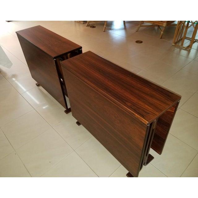 Westnofa Furniture 1970s Scandinavian Westnofa Rosewood Drop Leaf Banquet Dining Tables - a Pair For Sale - Image 4 of 10