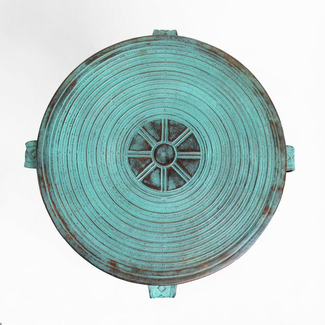 Boho Chic Copper Rain Drum Table For Sale - Image 3 of 5