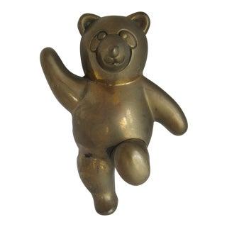 Vintage Brass Bear Wall Hook