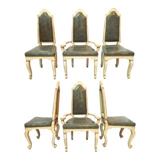 Mid Century Cathedral Dining Chairs - Set of 6