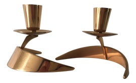 Image of Bronze Candle Holders