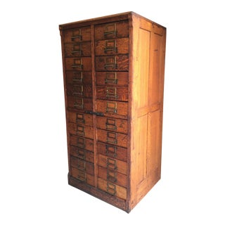 19th Century Victorian 24-Drawer Library Card Catalogue Cabinet For Sale