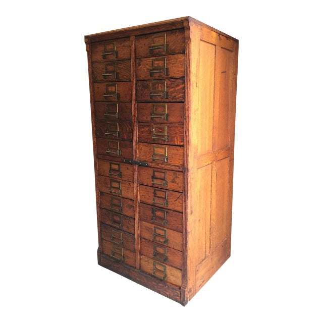19th Century Victorian 24 Drawer Library Card Catalogue Cabinet
