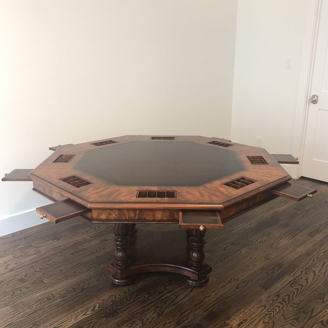 2010s Sherrill Occasional Masterpiece Collection Poker/Game Table and 4 Game Chairs Set For Sale - Image 5 of 13