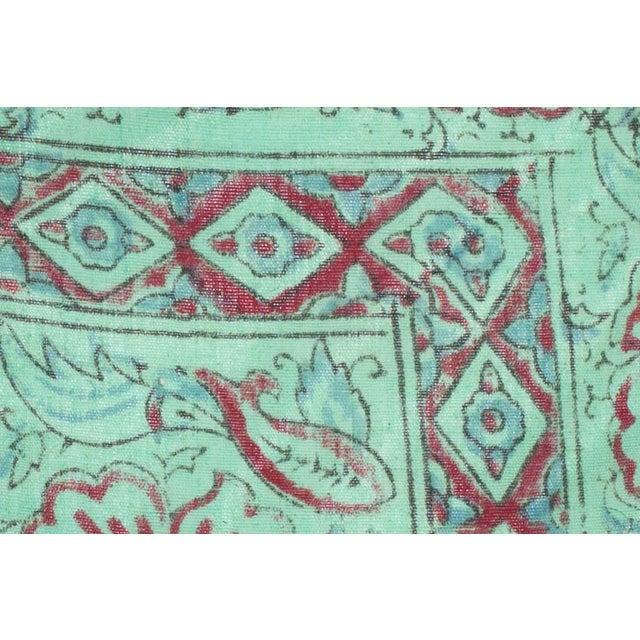 Pair Vintage 1970s Indian Block Print pillows.