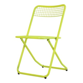 New Yellow Metal Folding Chair by Federico GIner for Houtique For Sale