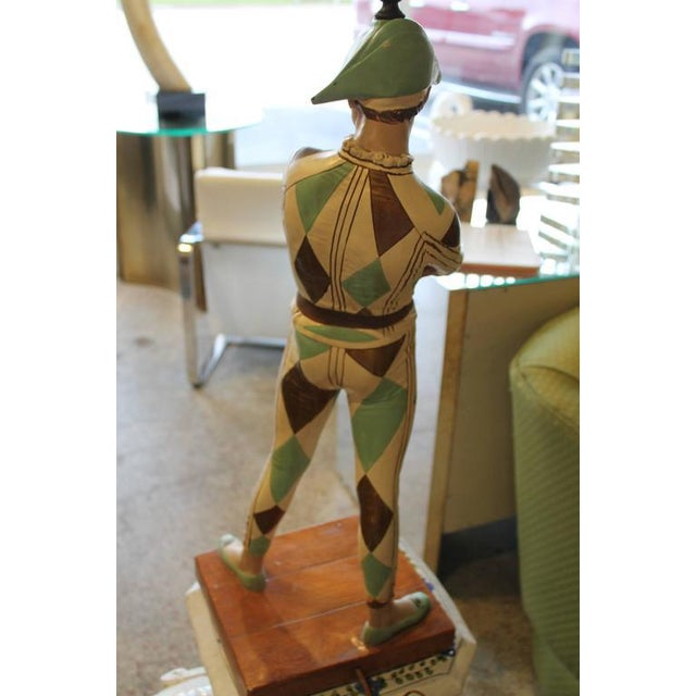 Plaster Vintage Harlequin Jester Table Lamp by Marbro For Sale - Image 7 of 10