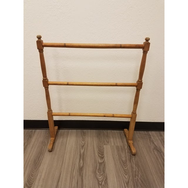 English Antique English Pine Quilt or Towel Stand For Sale - Image 3 of 13