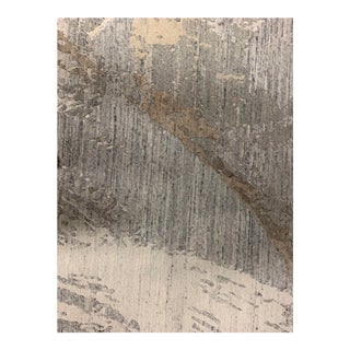 Contemporary Abstract Viscose Rug 8'2 X 9'9 For Sale