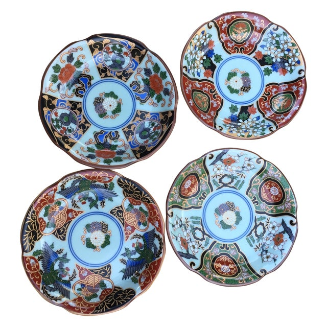Vintage Japanese Porcelain Side Dishes - Set of 4 - Image 1 of 11