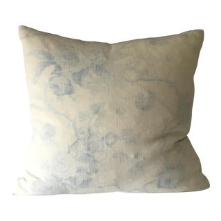 French Country Brunschwig Et Fils Blue and White Toile Pillow Cover For Sale