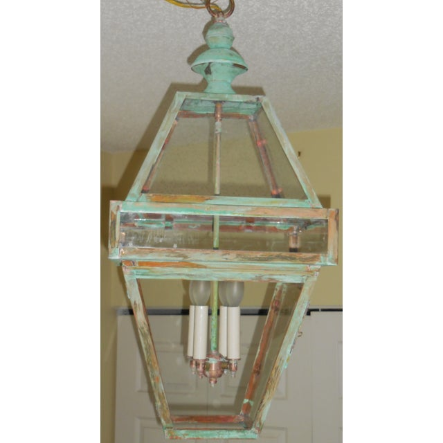 Four Sides Architectural Hanging Copper Lantern - Image 2 of 11