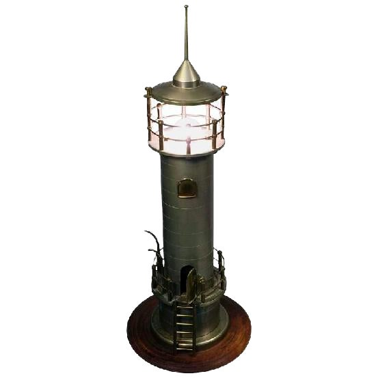 ATMOSPHERIC ART DECO MACHINE AGE LIGHTHOUSE LAMP For Sale