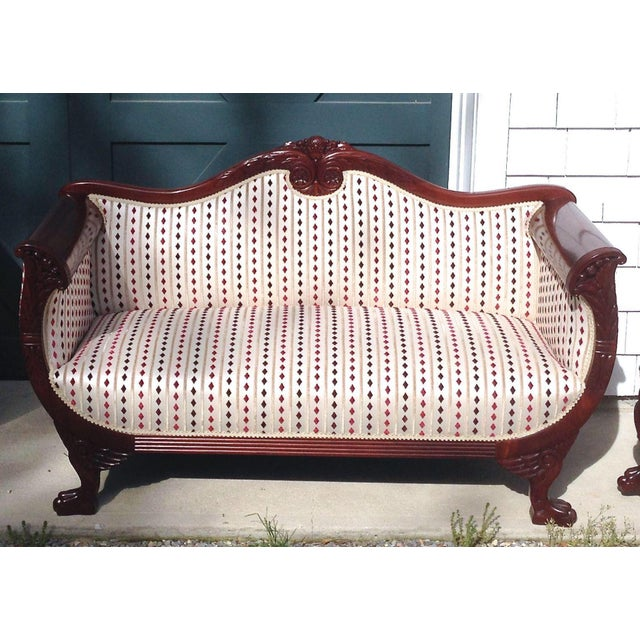 Antique Regency Mahogany Loveseat - Image 5 of 5