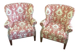 Image of Boho Chic Wingback Chairs