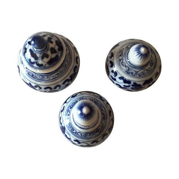 Chinese Blue & White Porcelain Bottles - Set of 3 - Image 2 of 5