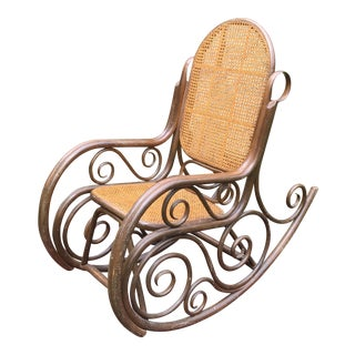 Antique Double Caned Bentwood Rocker