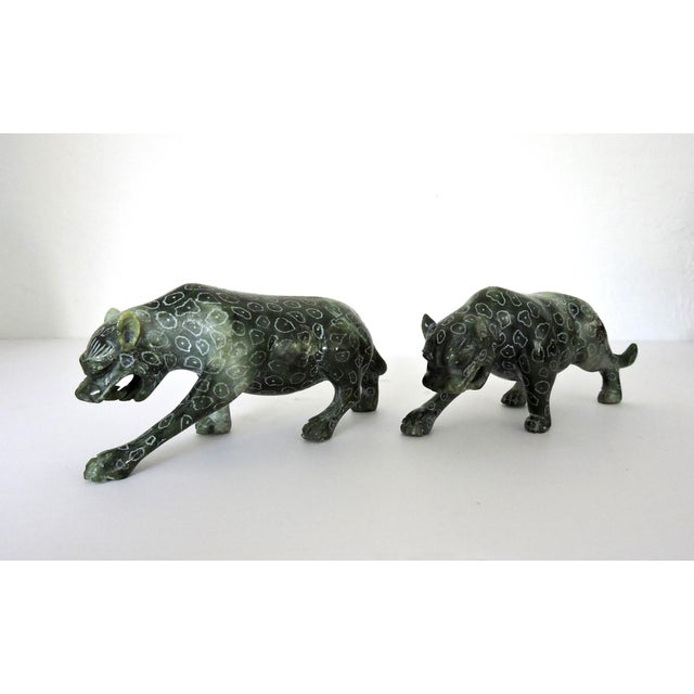 African Chinese Jadeite 'Cloud Leopards' - Sculptures / Statues, a Pair For Sale - Image 3 of 8
