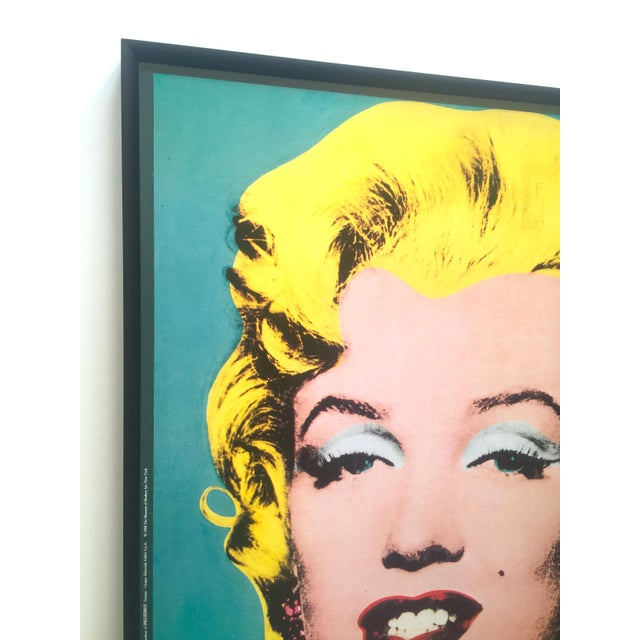 "Andy Warhol Andy Warhol Vintage 1988 Lithograph Print Framed Pop Art Poster "" Marilyn "" 1964 For Sale - Image 4 of 13"