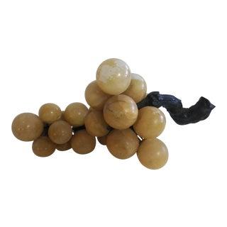 Vintage Alabaster/Soapstone Grape Bunch Cluster For Sale