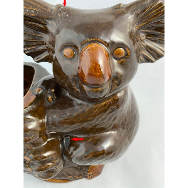 """Adorable Haeger Vintage Lovingly-Worn Koala Planter Looking for a Caring Home. About 9""""H X 9""""L X 5""""W Once again, Haeger..."""