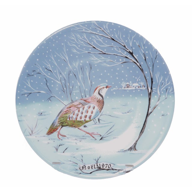 "French Country Haviland Limoges ""A Partridge in a Pear Tree"" Plate For Sale - Image 3 of 3"
