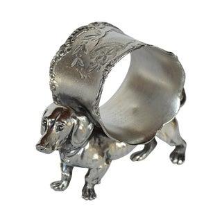 Victorian Dachshund Napkin Ring For Sale