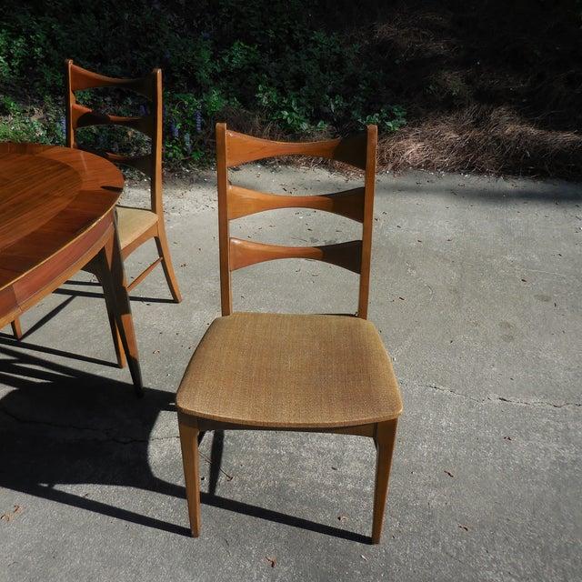 Mid-Century Lane Wood Dining Set - Image 5 of 9