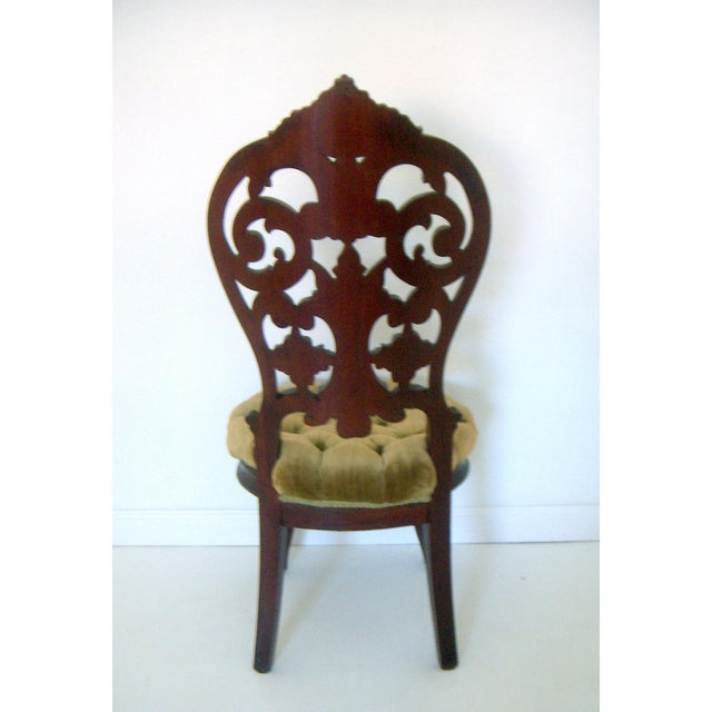 Ornate High Back Accent Chair - Image 3 of 6