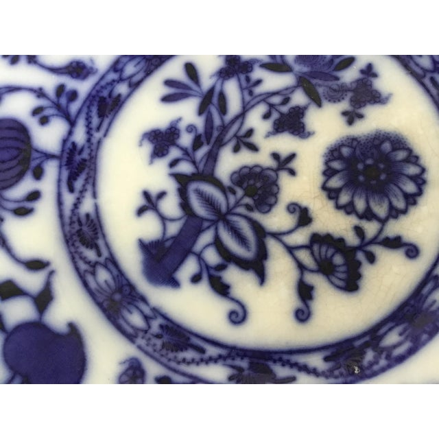 """Jonson Bros England """"Holland"""" Flow Blue Plates - a Pair For Sale - Image 12 of 13"""