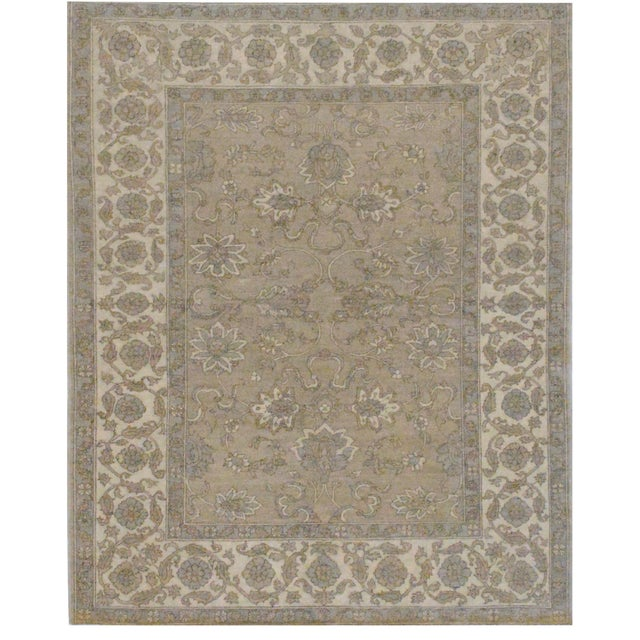 """Transitional Mansour Fine Handwoven Agra Rug - 7' X 8'10"""" For Sale - Image 3 of 3"""