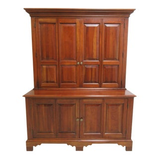 1990s American Classical Ethan Allen Media Hutch For Sale
