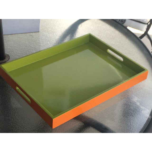 Lime Green Lacquer Tray - Image 4 of 8